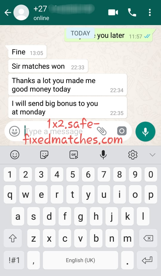 football fixed odds 100%